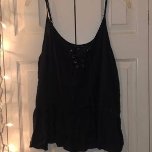Lace up thin strap top